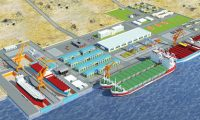码头施工动画制作