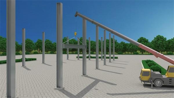 钢结构三维动画