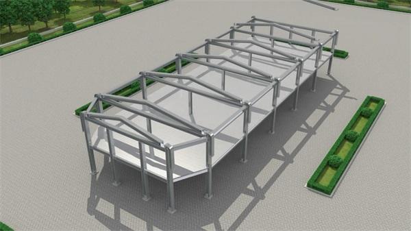 钢结构三维施工动画